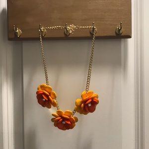 Jewelry - Orange flowers statement necklace